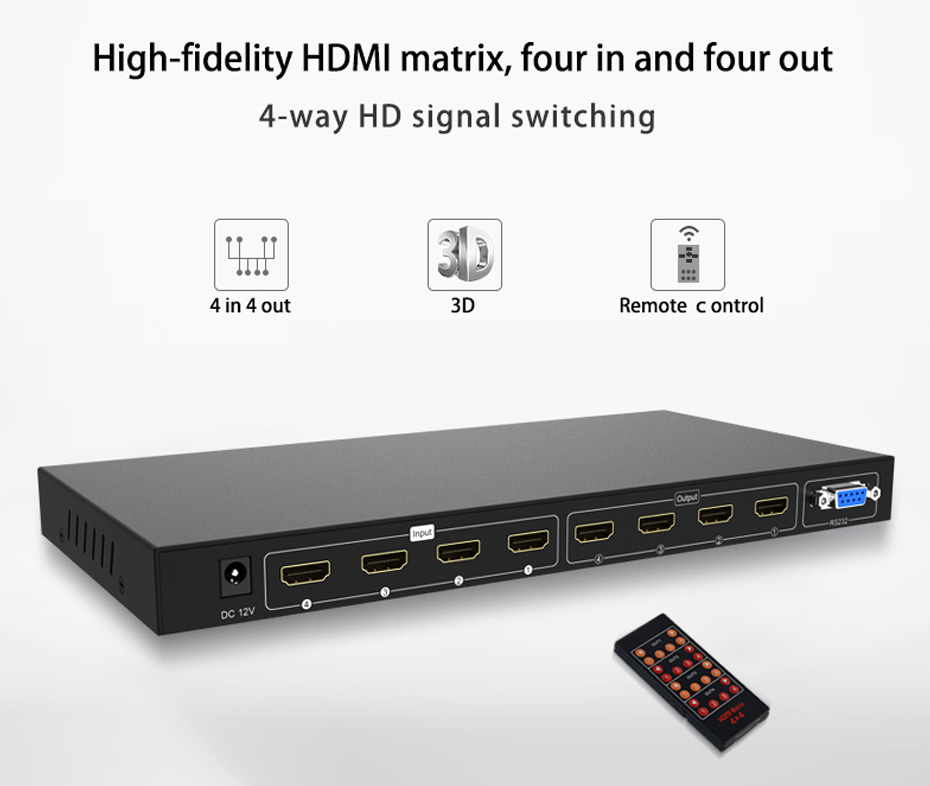 HDMI matrix four in and four out 414H